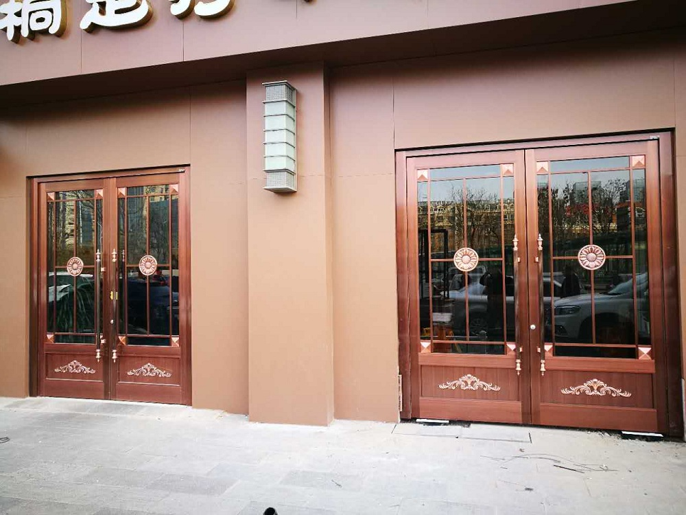 glass entrance doors commercial