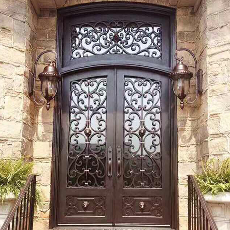 wrought iron exterior doors